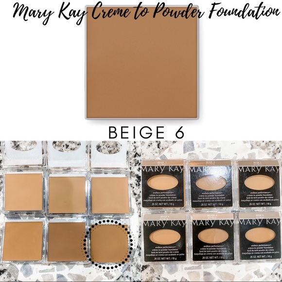 Mary Kay Creme to Powder Foundation In Beige 6